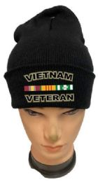 36 Units of Vietnam Veteran Black Color Winter Beanie - Winter Beanie Hats