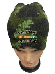 36 Units of Vietnam Veteran Camo Color Winter Beanie - Winter Beanie Hats