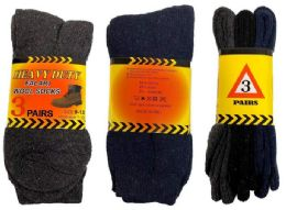 72 Units of Heavy Duty Man Wool Socks - Mens Thermal Sock