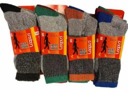 72 Units of Man Thermal Socks - Mens Thermal Sock