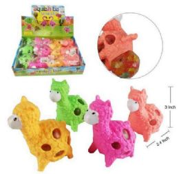 72 Units of Mesh Squish Ball With Water Beads Sheep - Slime & Squishees