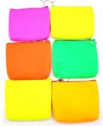 96 Units of Neon Color Coin Purse - Wallets & Handbags