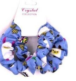 72 Units of Assorted Colored Scrunchies - Hair Accessories