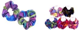 72 Units of Rainbow Color Scrunchies - Hair Accessories