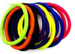 72 Units of Solid Color Scrunchies - PonyTail Holders