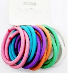 72 Units of Assorted Colored Scrunchies - PonyTail Holders