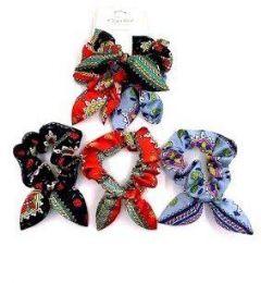 72 Units of Scrunch Flower styles - PonyTail Holders