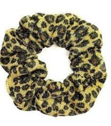 72 Units of Assorted Leopard Pattern Scrunchies - PonyTail Holders