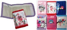 72 Units of Owl Tri Fold Kids Wallet - Wallets & Handbags