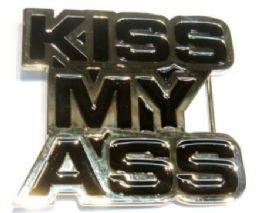 18 Units of Kiss My Ass Belt Belt Buckle - Belt Buckles