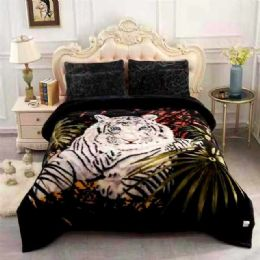 5 Units of Queen Size Blanket White Tiger - Fleece & Sherpa Blankets