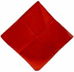 72 Units of Solid Color Red Bandana - Bandanas