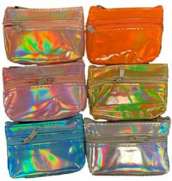 96 Units of Shiny Faux Leather Coin Purse - Wallets & Handbags
