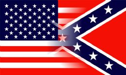 24 Units of Confederate Flag Blended With American Flag - Signs & Flags