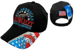 36 Units of All AMERICAN Patriot Ready to Defend Hat - Baseball Caps & Snap Backs