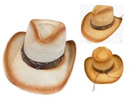 12 Units of Cowboy Hat with Brown Hat Band Steer - Cowboy & Boonie Hat