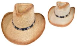 12 Units of Cowboy Hat With Round Silver Medallions - Cowboy & Boonie Hat