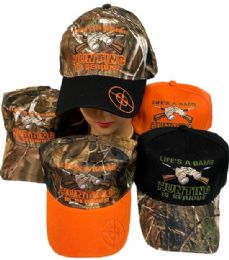 36 Units of Life Is Game HUNTING IS SERIOUS Ball Cap - Baseball Caps & Snap Backs