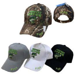 36 Units of Perfect Catch Fishing Hat - Baseball Caps & Snap Backs