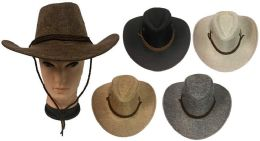 36 Units of Tweed Cowboy Hat with Hat Band - Cowboy & Boonie Hat