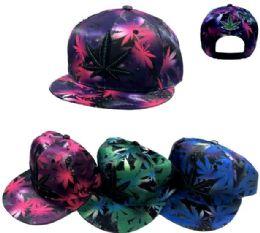 24 Units of Snap Back Hat Flat Bill Large Marijuana - Baseball Caps & Snap Backs
