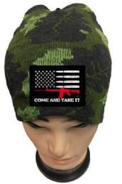 24 Units of Come and Take Camo Beanie Winter Hat Coming - Baseball Caps & Snap Backs