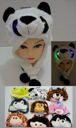 24 Units of Plush Animal Hats Assorted - Winter Animal Hats