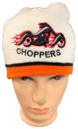 48 Units of Choppers Winter Beanie Hat In White - Winter Beanie Hats