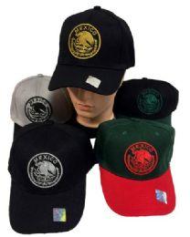 36 Units of Mexico Flag Baseball Cap - Baseball Caps & Snap Backs