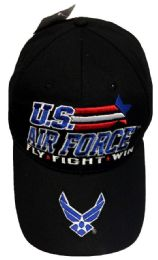 12 Units of Official Licensed Racing Star US Air Force Hats - Baseball Caps & Snap Backs
