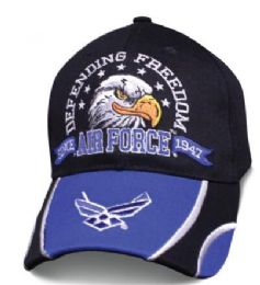 12 Units of Official Licensed Star Striker US Air Force Eagle Hats - Baseball Caps & Snap Backs