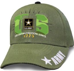 12 Units of Official Licensed US Army Green Basic Training Hats - Baseball Caps & Snap Backs