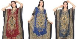 12 Units of Long Kaftan Assorted Colors - Womens Sundresses & Fashion