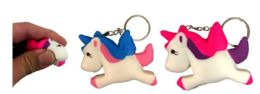 96 Units of Unicorn Shape Squishy Keychain - Key Chains