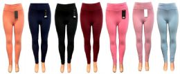 12 Units of Solid Color Legging - Womens Leggings