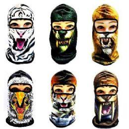 36 Units of Animal Print Ninja Face Mask - Unisex Ski Masks