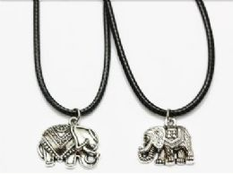 120 Units of Elephant Cord Necklace - Necklace
