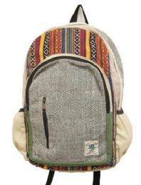 "5 Units of Handmade Hemp Backpack - Backpacks 15"" or Less"