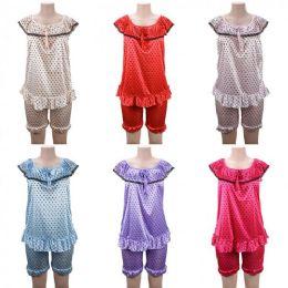 24 Units of Women Pajama Night Gown 2 Piece Heart Print Assorted - Women's Pajamas and Sleepwear