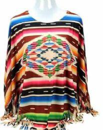 3 Units of Montana West Serape Collection Poncho - Womens Fashion Tops