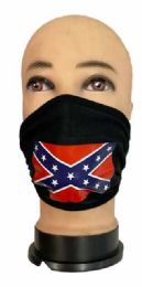 24 Units of Rebel Face Cover All Black - Face Mask