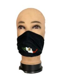 24 Units of Mexico Black Color Face Cover - Face Mask