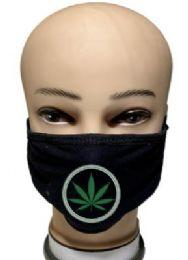 24 Units of Marijuana Style Black Face Cover - Face Mask
