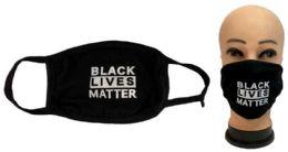 24 Units of Black Lives Matter Black Face Cover - Face Mask