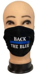 24 Units of Back the Blue Face Cover - Face Mask