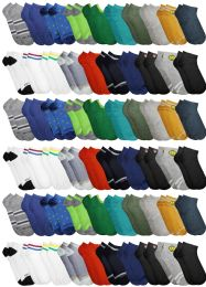 120 Units of Yacht & Smith Assorted Pack Of Boys Low Cut Printed Ankle Socks Bulk Buy - Boys Ankle Sock