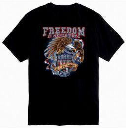 12 Units of Black Color Tee Shirt Freedom Veteran - Mens T-Shirts