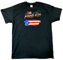 12 Units of Puerto Rico Style T Shirt - Mens T-Shirts