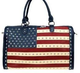 2 Units of West USA Rhinestone Duffel Bag - Duffel Bags