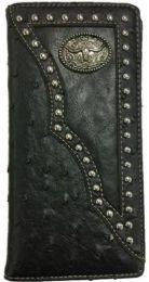 12 Units of Long Horn Black Western Wallet - Wallets & Handbags